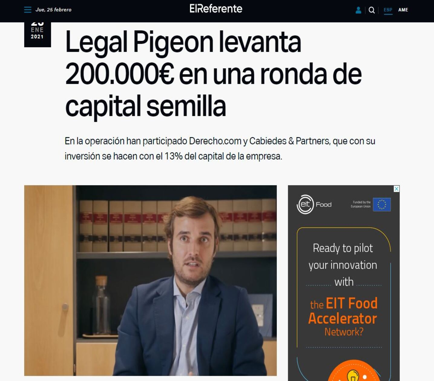El Referente Legal Pigeon abogado sustituto